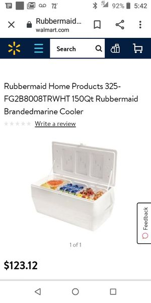 Large rubbermaid cooler for Sale in San Pedro, CA