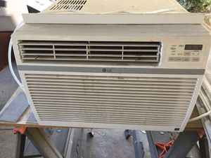 LG AIr condition like new used only three months Purchased from Home Depot fix my central air now selling in the largest 115 AC unit 15,000 BTU for Sale in Chino, CA