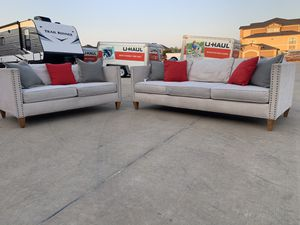 Can deliver - Rowe couch sofa loveseat set 2pcs for Sale in Burleson, TX