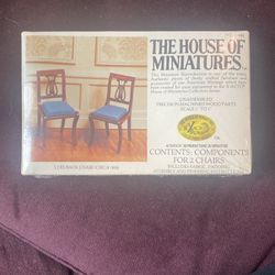 The House of miniatures 2 Chairs No 40044 for Sale in Los Angeles,  CA