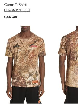 Heron Preston Camo XXL T-shirt for Sale in Portland, OR