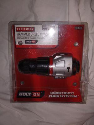 Craftsman hammer drill attachment for Sale in Centralia, WA