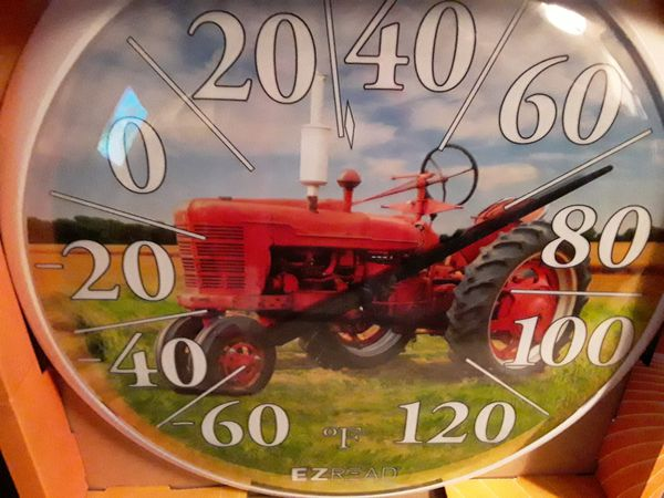"""""""Tractor"""" Thermometer (indoor/outdoor) NEW"""