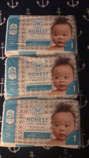 Honest diapers size 1 for Sale in Sacramento, CA