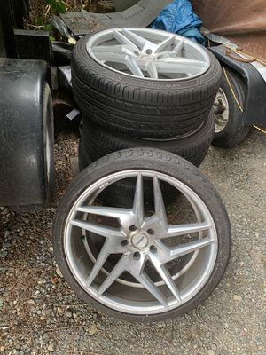 Tires and rims for sale ZEBRA aluminum wheels for Sale in Kent, WA