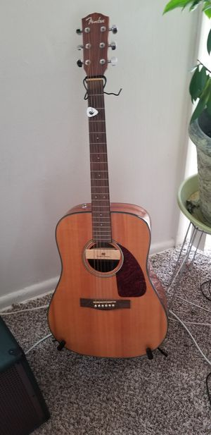 Fender CD140S Natural Acoustic guitar w/ installed PU, bag, extras for Sale in Baltimore, MD
