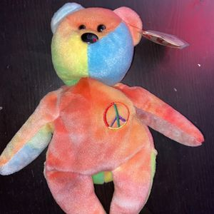 Beanie Baby Original Peace 1996 Mint Perfect Condition for Sale in St. Petersburg, FL