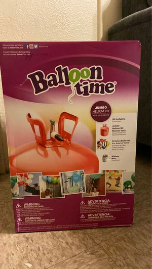 Balloon Time Jumbo Helium Kit for Sale in Los Angeles, CA