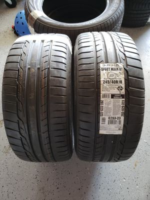 Dunlop Sport Maxx RT245/40r/18 tires for Sale in San Diego, CA