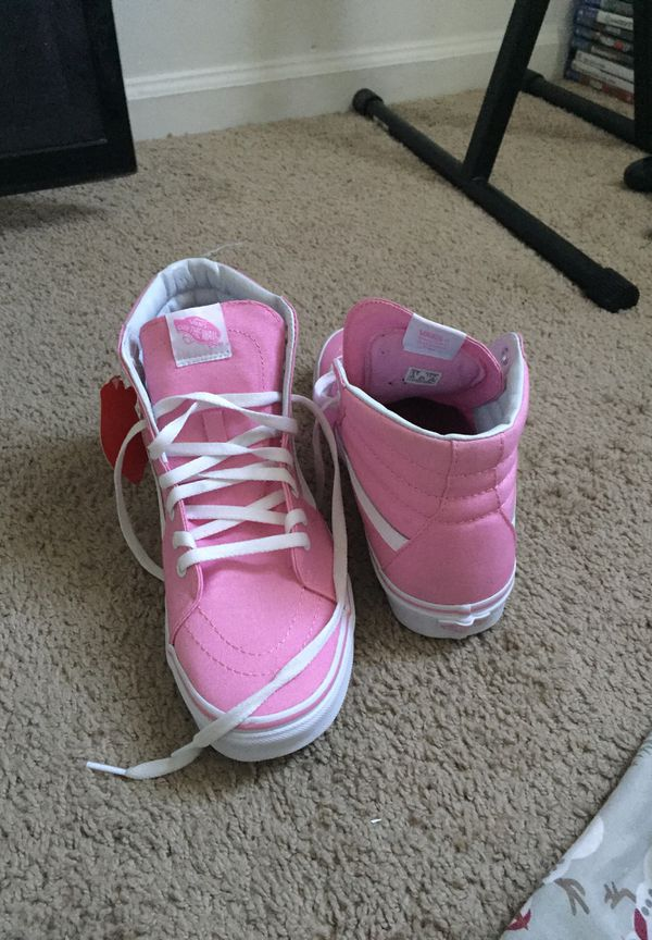PINK HIGH TOP VANS MEN 9.5