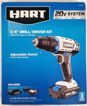 New 3/8 Drill/*Driver Kit -HART 20-Volt Cordless 3/8-inch - 1.5Ah Lithium-Ion Battery, for Sale in Mesa, AZ