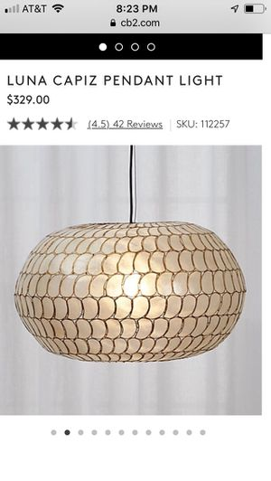 CB2 Luna Capiz pendant light for Sale in Seattle, WA
