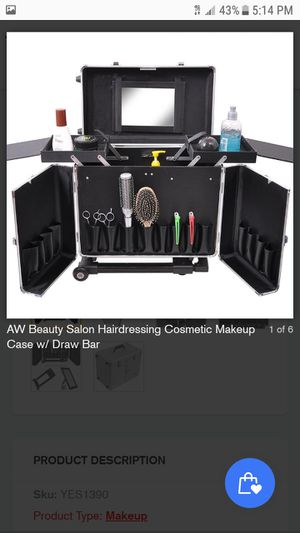 Beauty Salon Hairdressing Cosmetic Makeup Case w/ Draw Bar for Sale in Walnut, CA