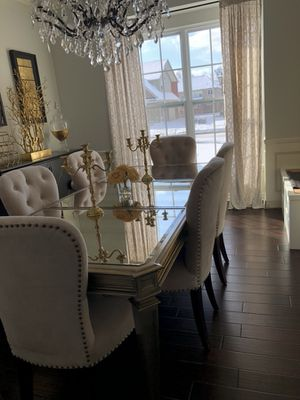 Zgallerie mirrored dining table only chairs are sold for Sale in Walled Lake, MI