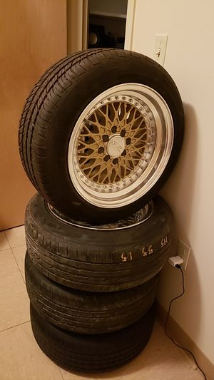 """15""""xxr rims with tires 4×100 bolt pattern for Sale in Crestview, FL"""