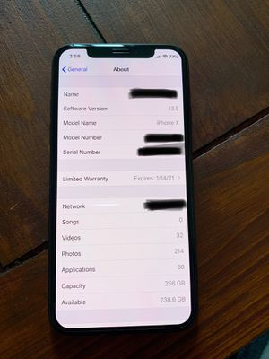 iPhone X Unlocked 256gb Mint for Sale in Magnolia, TX