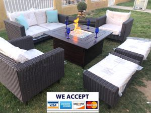 Patio furniture set with fire pit propane for Sale in Norco, CA