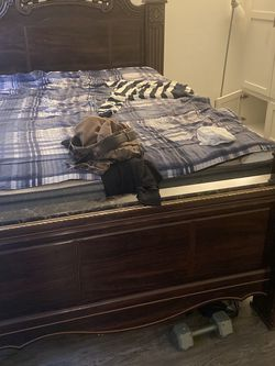 Bed And Box Spring And One Dresser for Sale in Downey,  CA