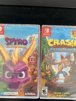 Crash Bandicoot And Spyro For Nintendo Switch for Sale in Romeoville,  IL