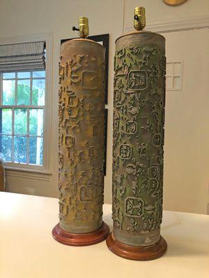 Vintage wallpaper roller lamps for Sale in Austin, TX