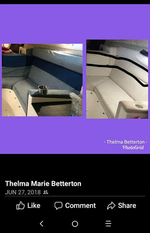 Boat seat - reupholstered for Sale in Oxon Hill, MD