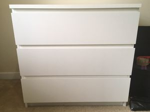White 3-Drawer IKEA Dresser for Sale in Richmond, VA