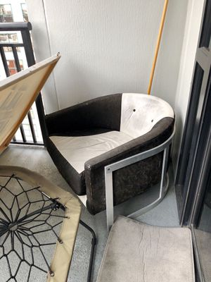 Tuxedo black & white rooms2go chairs -suede & leather for Sale in Orlando, FL