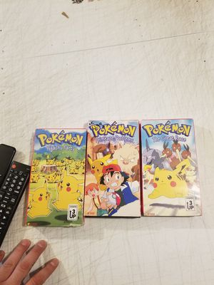 Vintage pokemon VHS tapes (2 brand new ) for Sale in Villages of Dorchester, MD