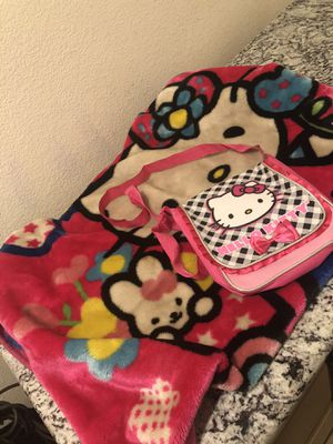 Hello kitty toddler blanket and crossbody purse set for Sale in French Camp, CA