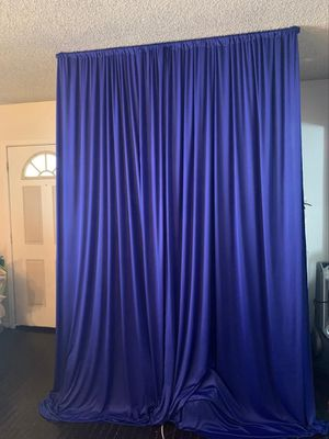 ROYAL BLUE BACKDROP CURTAINS FOR SALE !!! for Sale in Ontario, CA