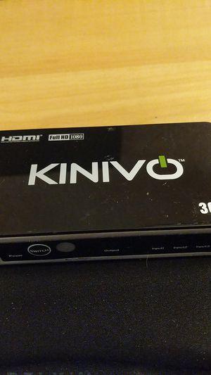 Kinivo 1080p FULL HD 3 Input HDMI Switch Model 301BN, power cord, hdmi cord for Sale in Darlington, PA
