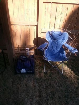 Camping chair , small size cage for hamster for Sale in Fairfax Station, VA