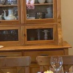 Antique Solid Wood China Cabinet for Sale in Rockville, MD