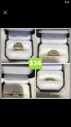 2 STYLE 925 LUXURY FASHION WEDDING/ENGAGEMENT RINGS SIZE 7 $36 EACH for Sale in Sebring, FL