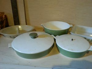 5 green corningware glasware for Sale in Rockville, MD