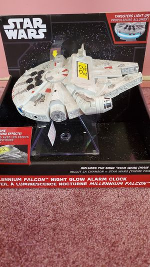 Millennium falcon night glow alarm clock for Sale in Minneapolis, MN