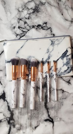 Marble Pattern Brushes & Makeup Bag for Sale in Dallas, TX