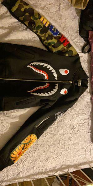 Bape Shark Head MGW Camo Sleeve Black Baseball Clothes for Sale in San Diego, CA
