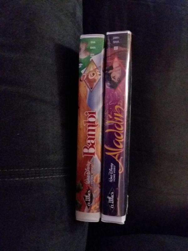 Limited Edition Orginal Disney VHS Bambi & Aladdin