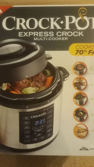 The original Crock-Pot brand Express crock multi cooker brand new never open in the Box for Sale in Berkeley Township, NJ