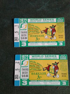 1972 world series tickets for Sale in Corning, CA