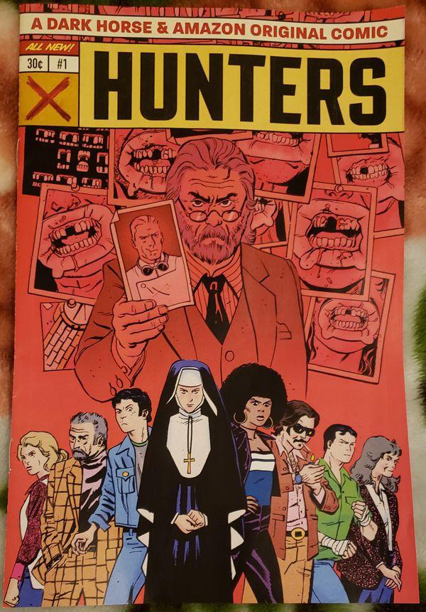 Amazon Prime Hunters comic book and stickers