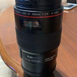 Canon Lens Macro 100mm 2.8 for Sale in Long Branch, NJ