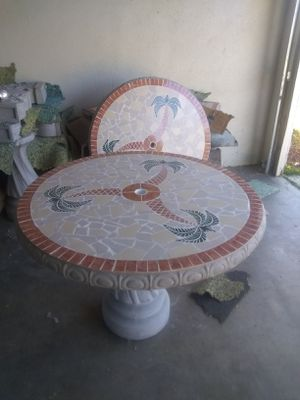 Cement watefall fountains/ tables ect. for Sale in Modesto, CA