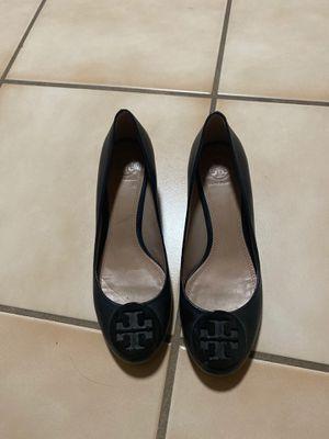 Tory Burch heels 7.5 black worn once for Sale in Hayward, CA