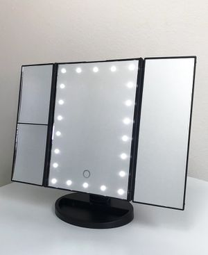"""New $20 each Tri-fold LED Vanity Makeup 13.5""""x9.5"""" Beauty Mirror Touch Screen Light up Magnifying for Sale in El Monte, CA"""