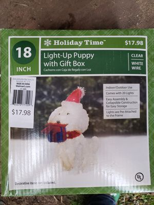 Holiday Puppy With Gift Box for Sale in Auburn, WA