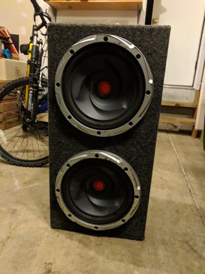 Kenwood dual 12 inch subwoofer with box for Sale in Grove City, OH