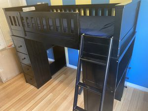 Kids single bunk bed excellent condition solid wood. for Sale in Los Angeles, CA