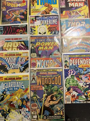 Assorted Marvel Comics - 14 Books - Spider-Man, Iron Man, Wolverine, Namor, Captain America, Guardians of The Galaxy, etc. for Sale in Englishtown, NJ